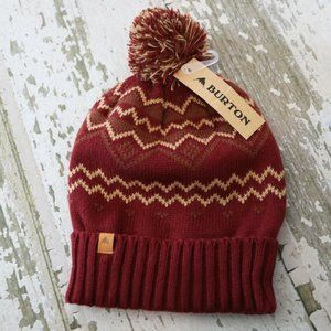 NWT BURTON MOUNTAIN MAN Knit Beanie Hat Cap Slouch